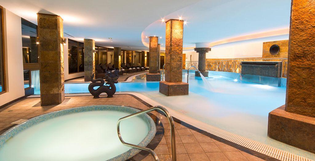 Relish the spa's sensual surroundings