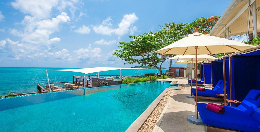 Or by the hotel pool overlooking the ocean