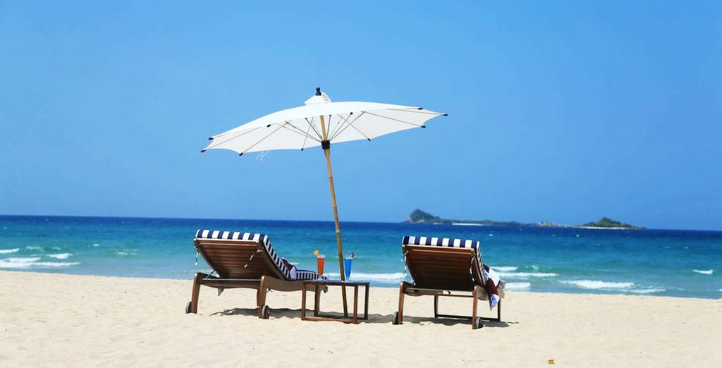 Situated right on this paradise beach