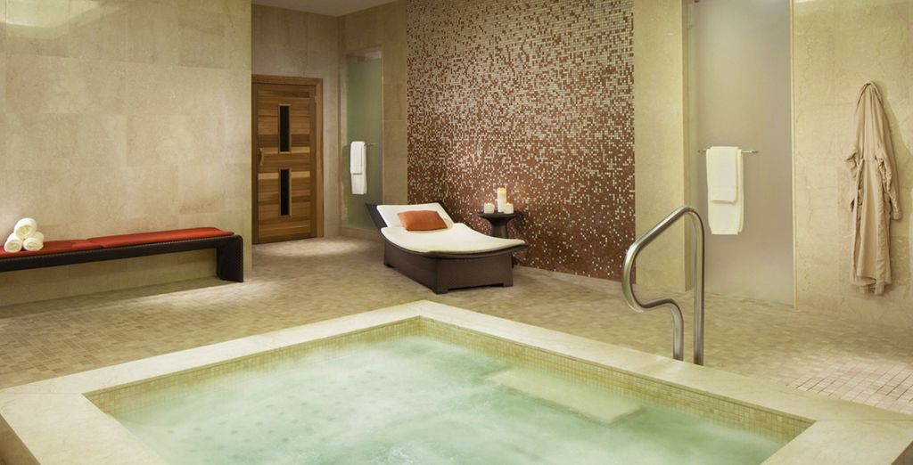 And unwind in the extensive spa, offering a wealth of ways to relax