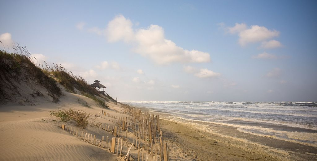 sandy beach of nags head nc the favorite place to be
