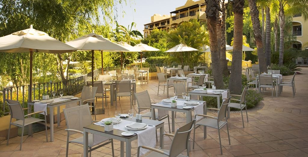 Or al fresco meals under the sun