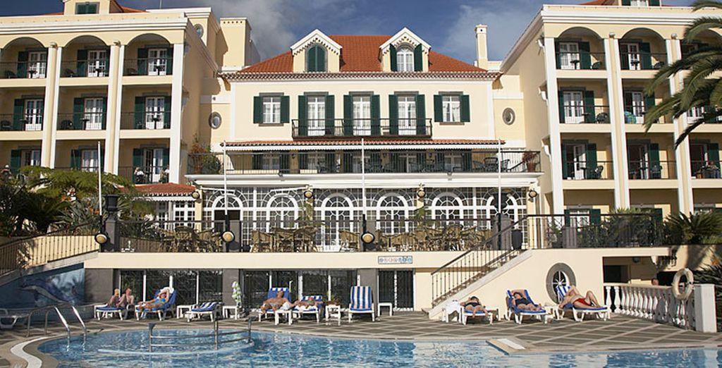 You'll stay at the 4* Quinta Bela Sao Tiago