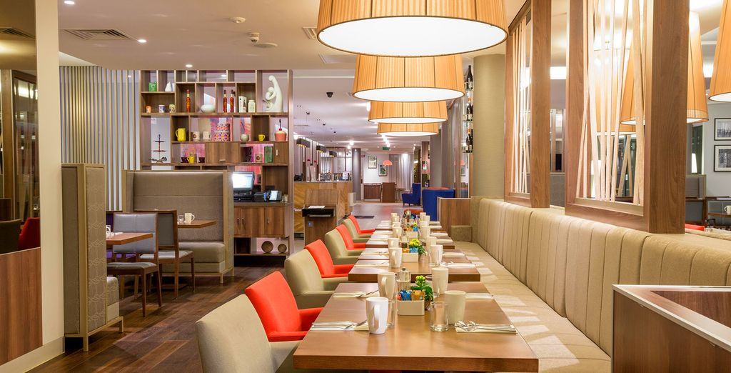 Dine in a cheerful and bright environment