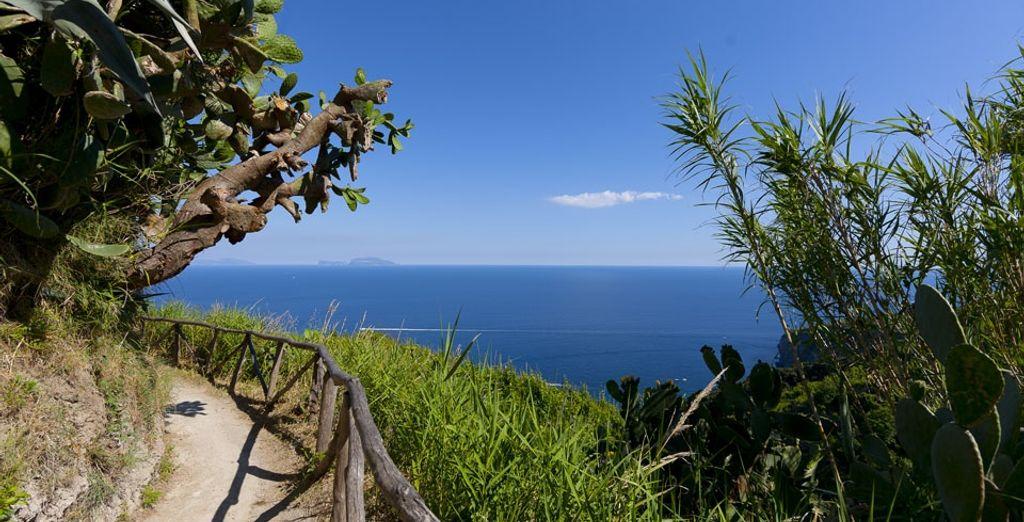 Or take a hike around the island