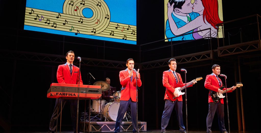 Jersey Boys, a toe-tapping show on the 1960s rock 'n roll group, The Four Seasons