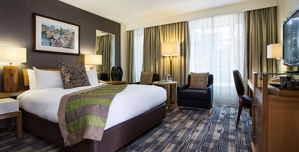 Your Deluxe Room offers all the comforts