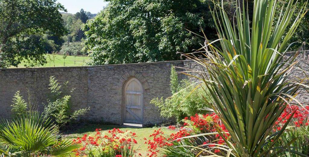 Stroll through the beautiful gardens