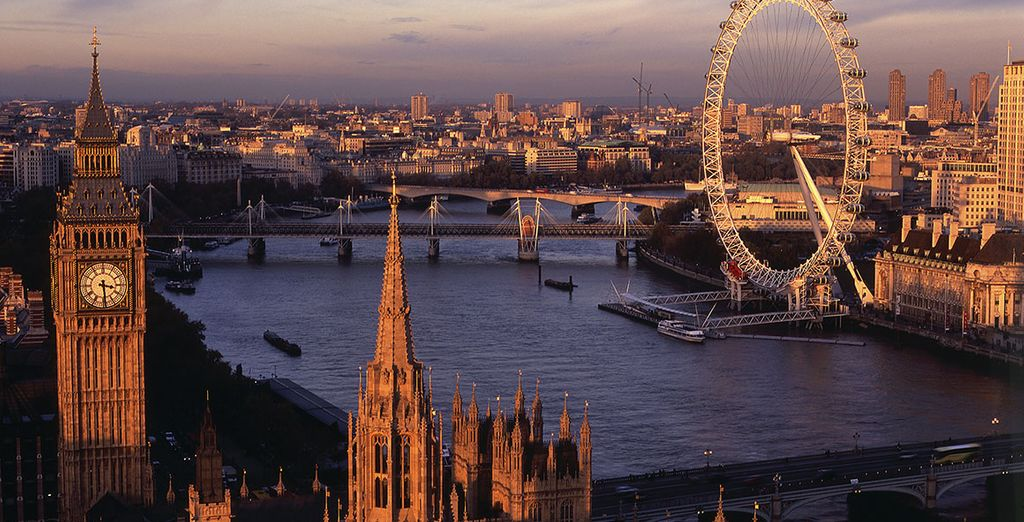 Admire the city from above on the London Eye