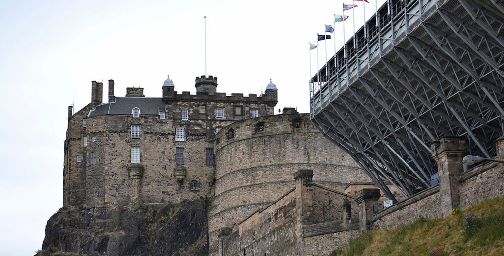 Take in the imposing structure of Edinburgh Castle
