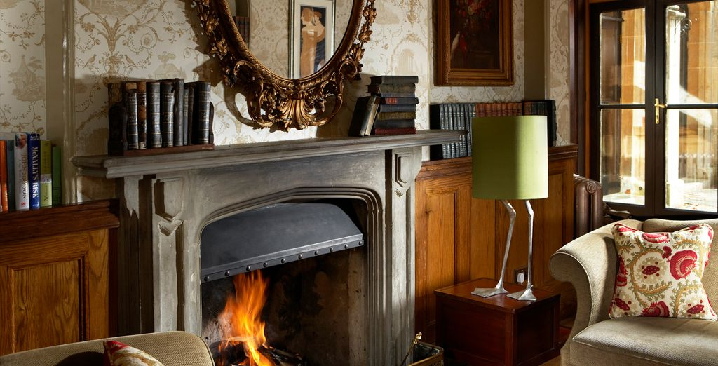 The interior is cosy and inviting