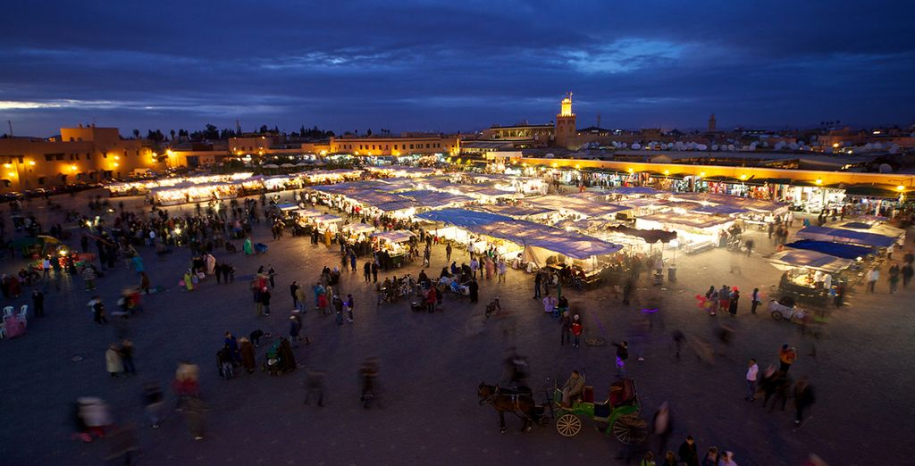 And the vibrant Jemaa el Fna square