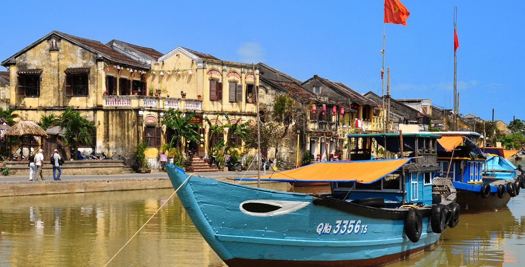 A free shuttle bus to Hoi An will further enrich your experience