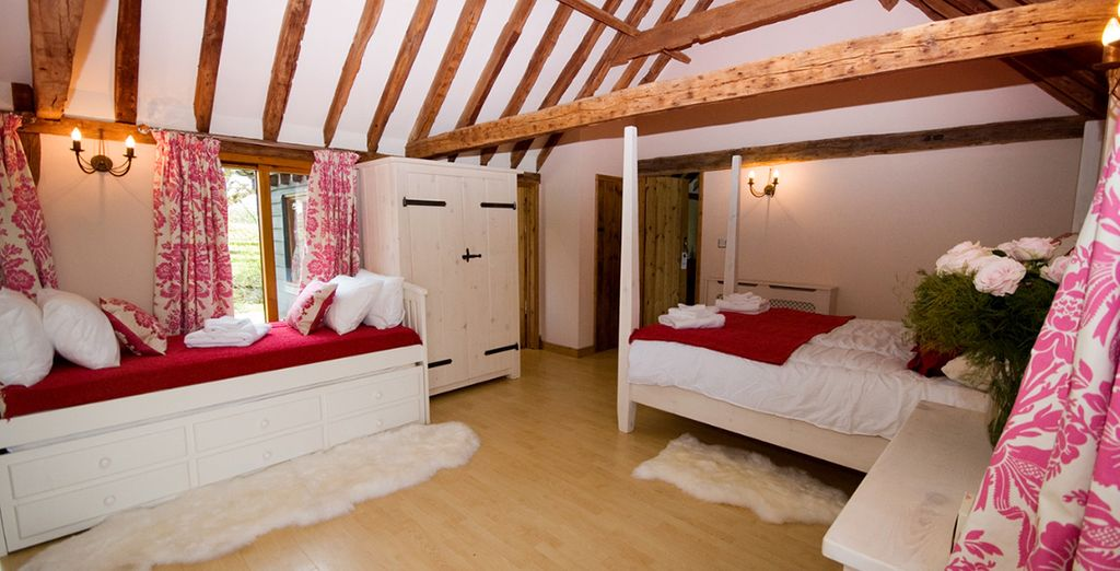 Or take comfort in a spacious suite