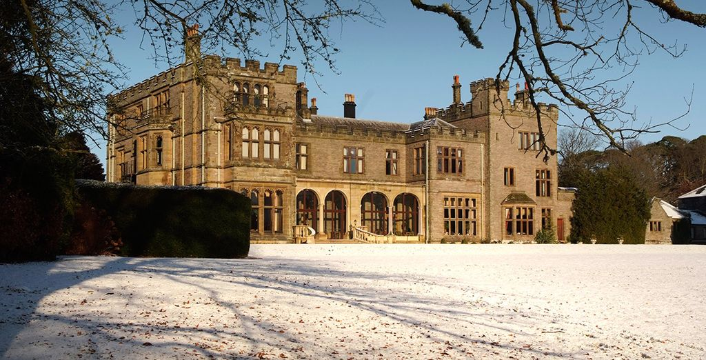 A grand manor house is a truly magical place to experience in winter