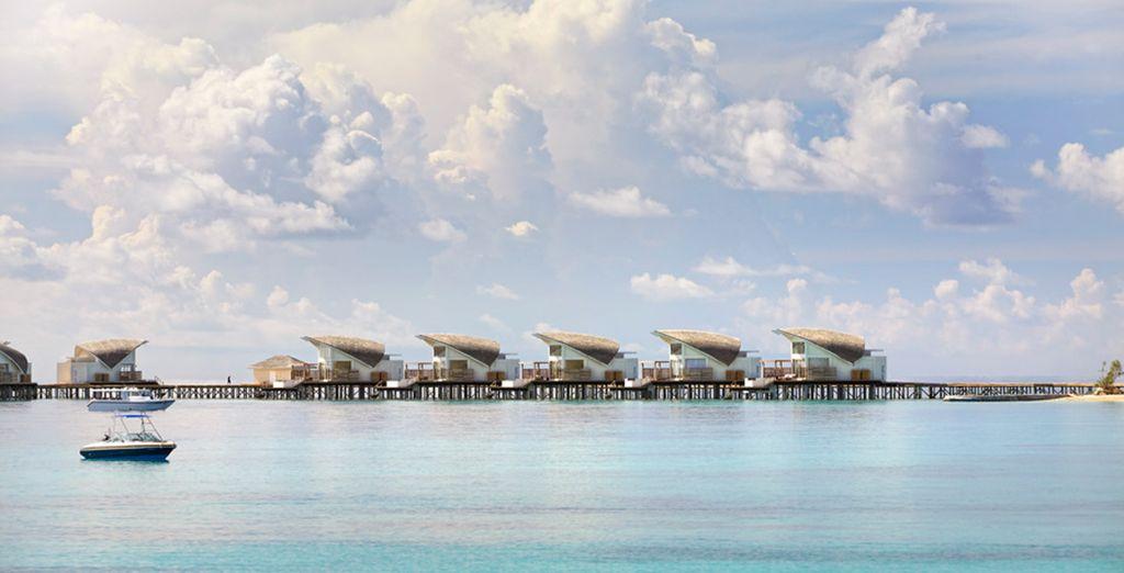 Enjoy a stay in an outstanding Water Villa