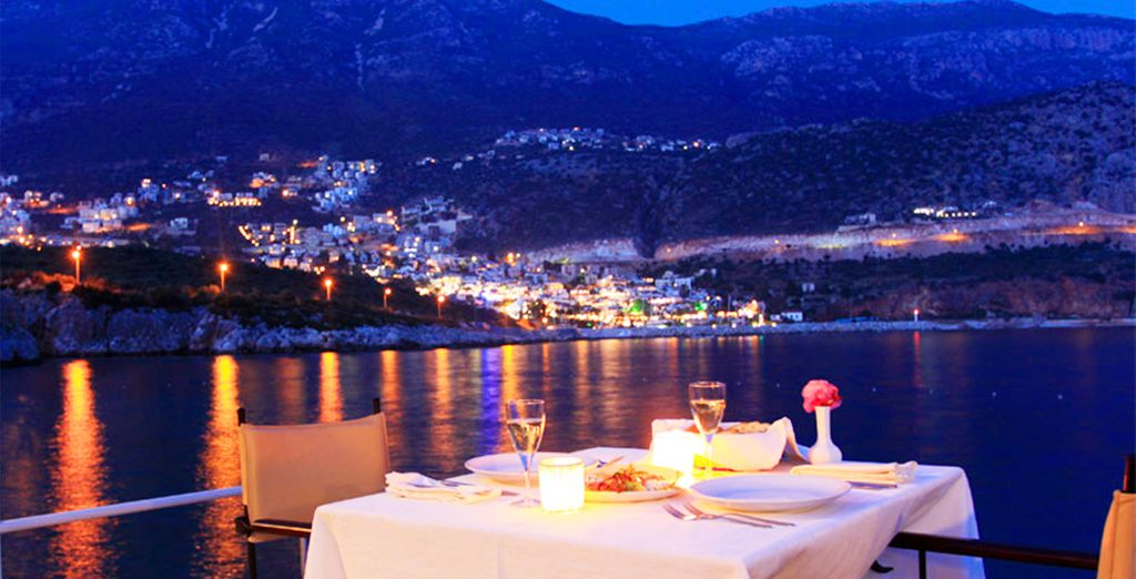 And dine on fresh seafood with beautiful views