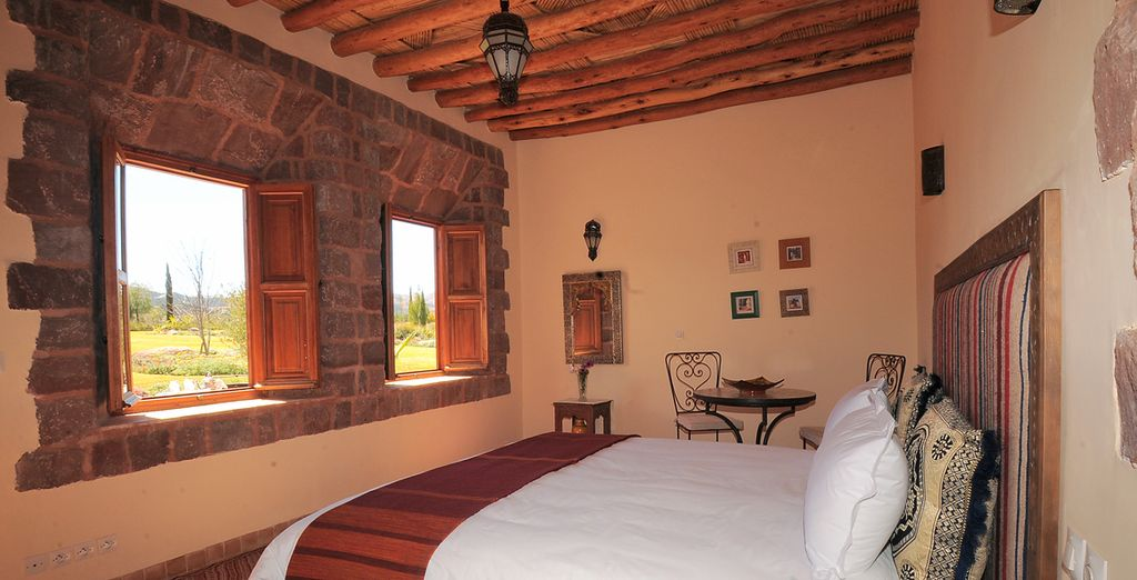 Kasbah Angour, High Atlas Mountains - hotel with panoramic view