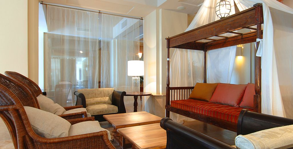 The hotel also has plenty of areas in which to relax and unwind with a drink