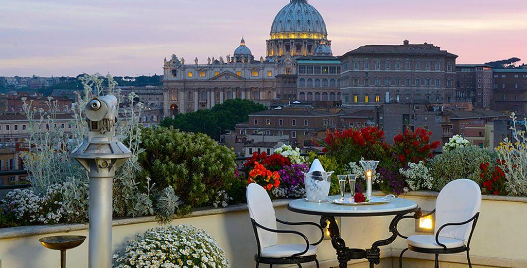 Enjoy glorious views of St Peter's Basilica