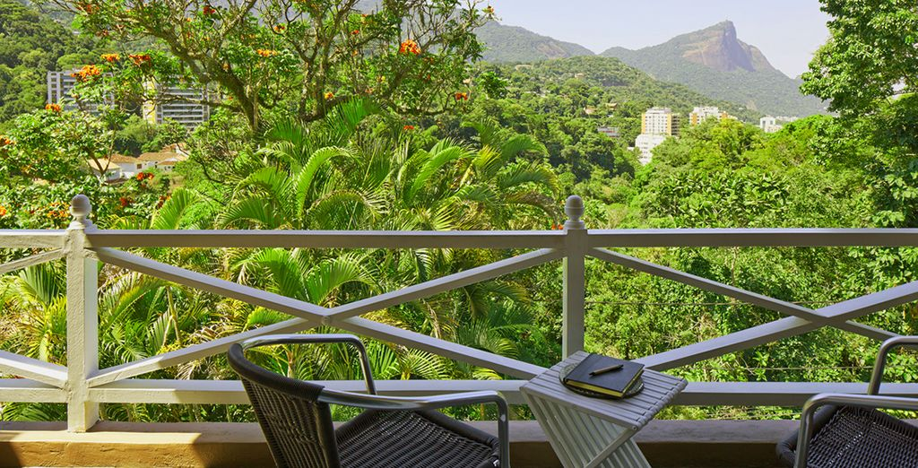 Enjoy sweeping views of the verdant mountainside...