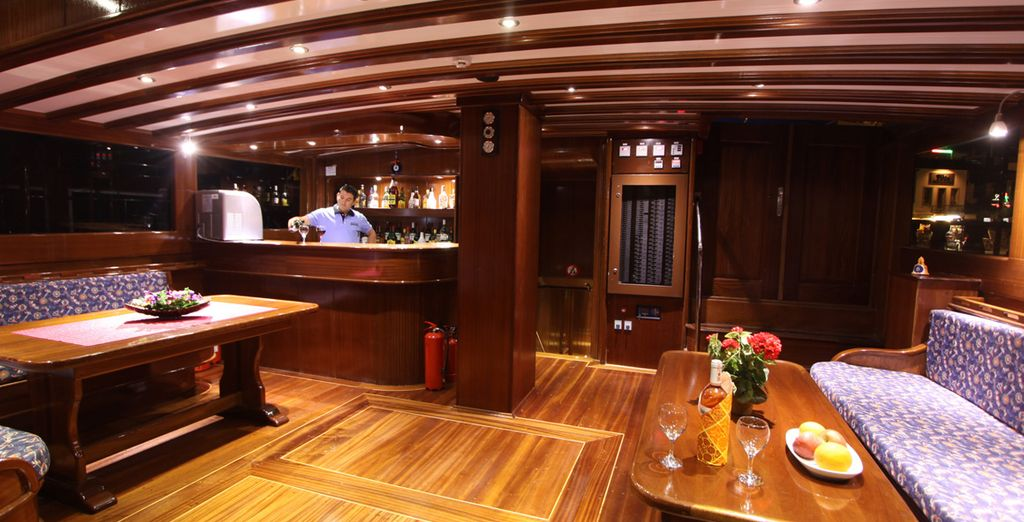 Enjoy a drink in the relaxing ambience of the bar area