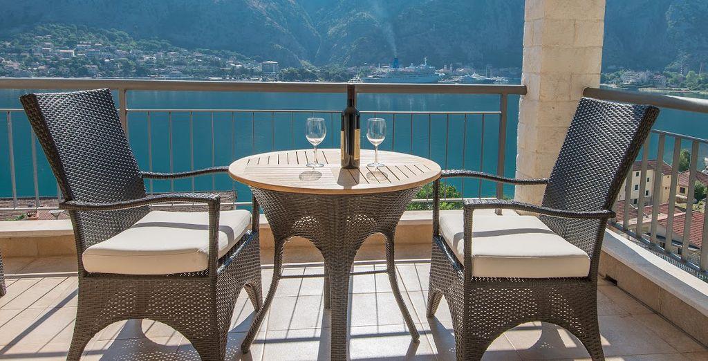 Dine al fresco with amazing views...