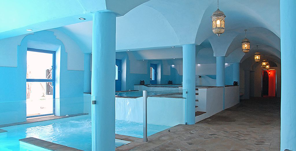You also have a free access to the tranquil spa - the perfect end to your day