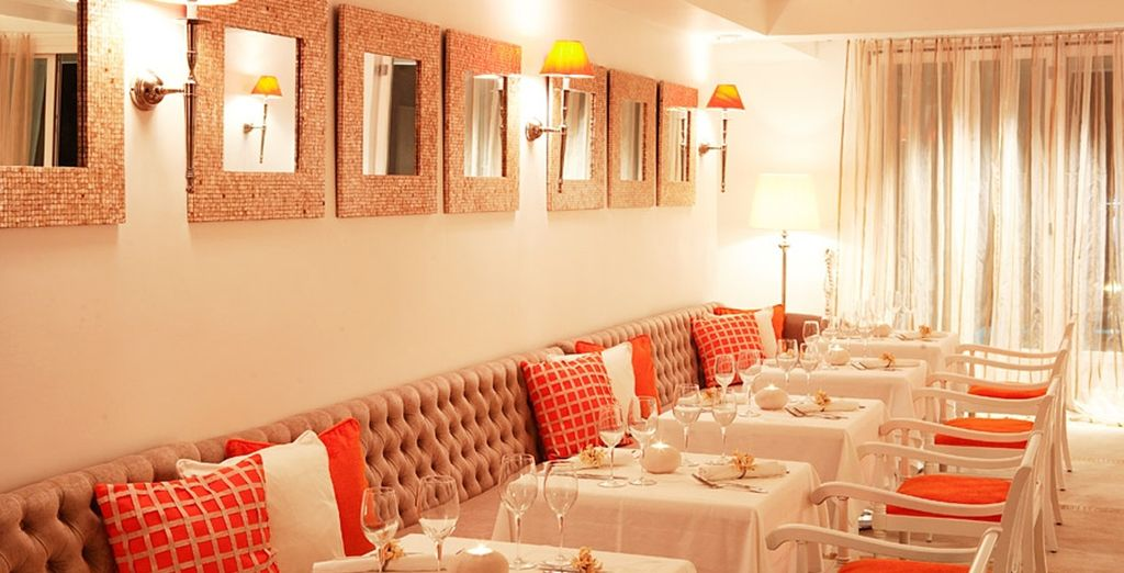 Or take a beautifully prepared meal in the restaurant