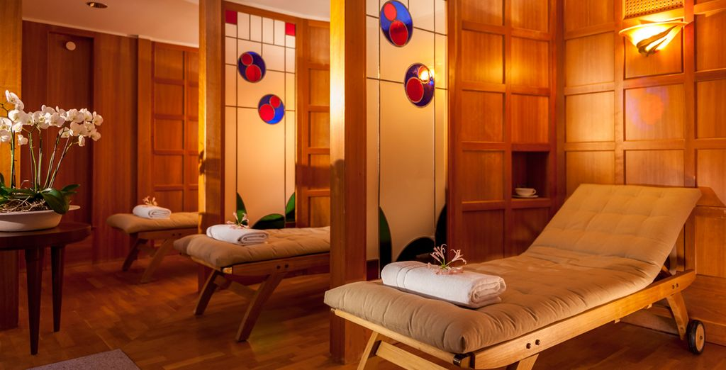 As well as free use of the hotel spa so you can truly unwind
