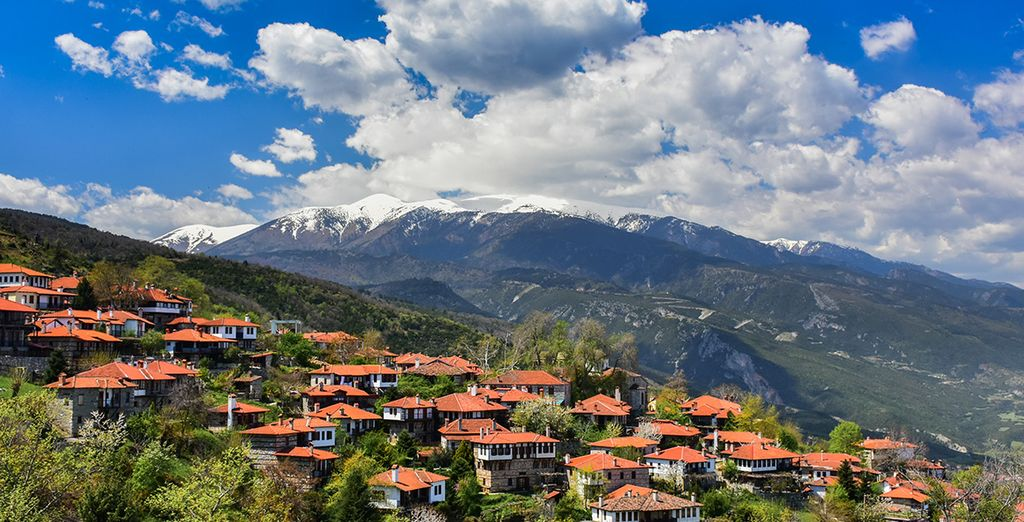 Head inland, where you'll find ancient villages, rugged scenery & towering Mount Olympus