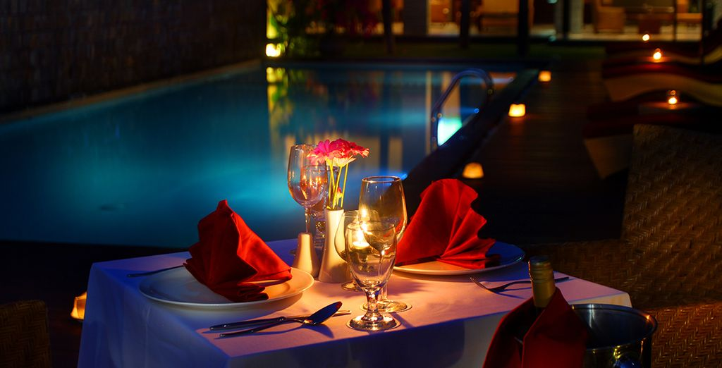 Or enjoy a romantic meal by the pool