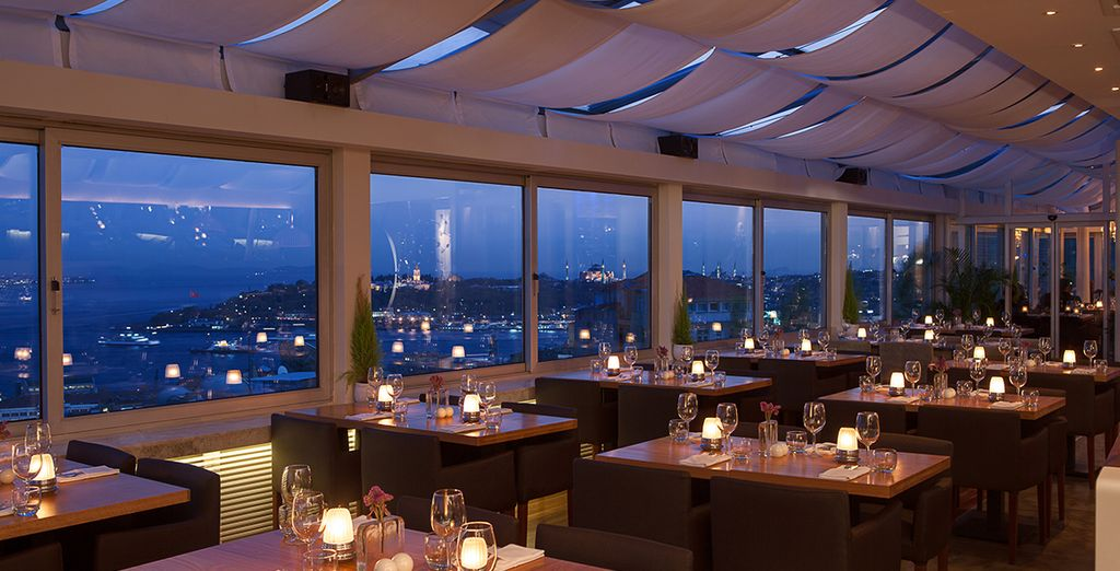 Take in breathtaking views of the city skyline