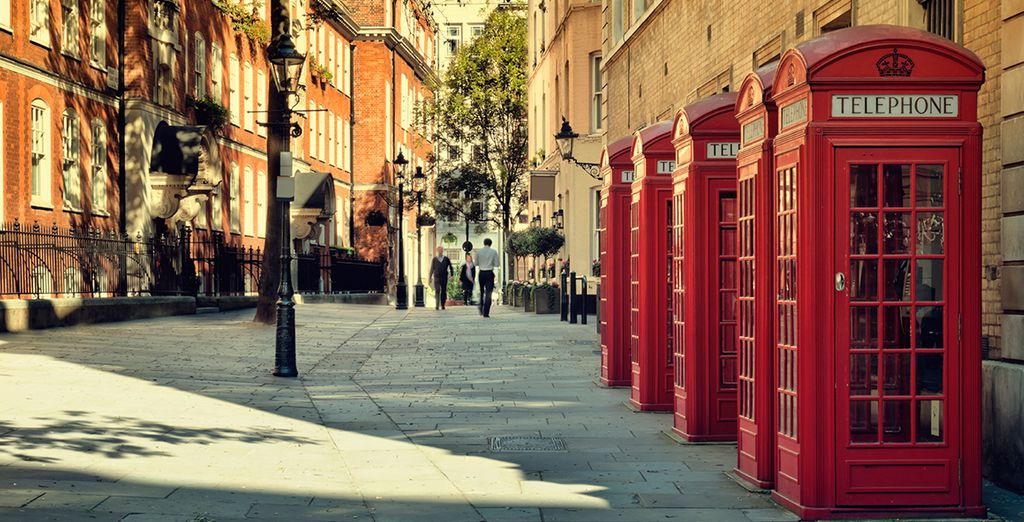 Visit the telephone boxes