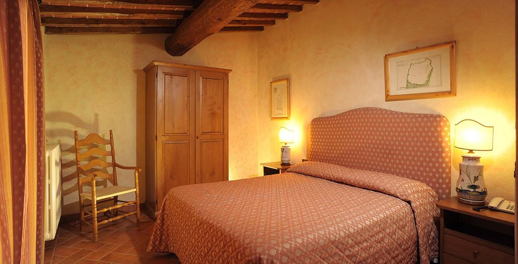 Your room that has been furnished with homely flourishes