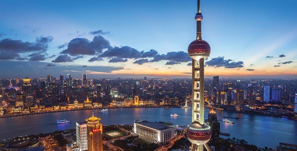 Take in the dramatic Shanghai skyline