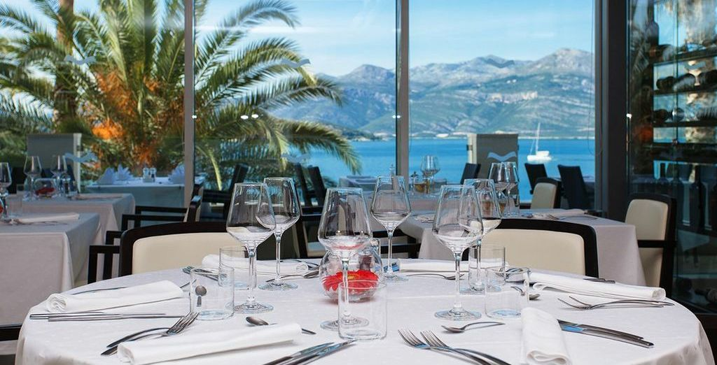 You can enjoy delicious meals in the hotel restaurant