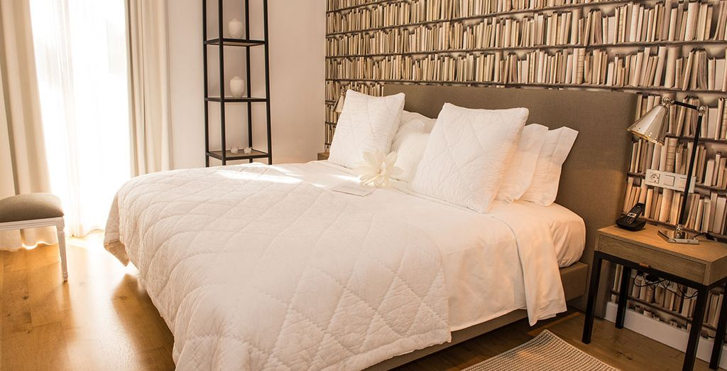 This newly refurbished hotel is stylish and modern...