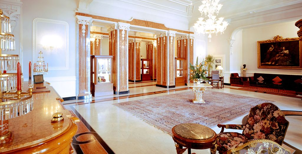 With decadent and grand interiors