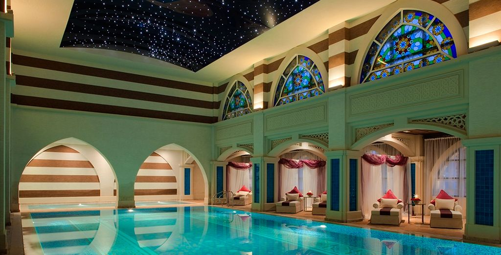 The hotel is awash with lavish facilities including this luxurious spa
