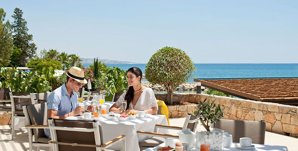 Enjoy lunch with views of the sea