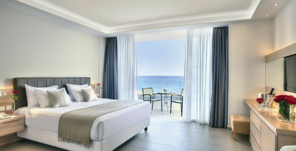 Luxuriate in your Superior Sea View Room