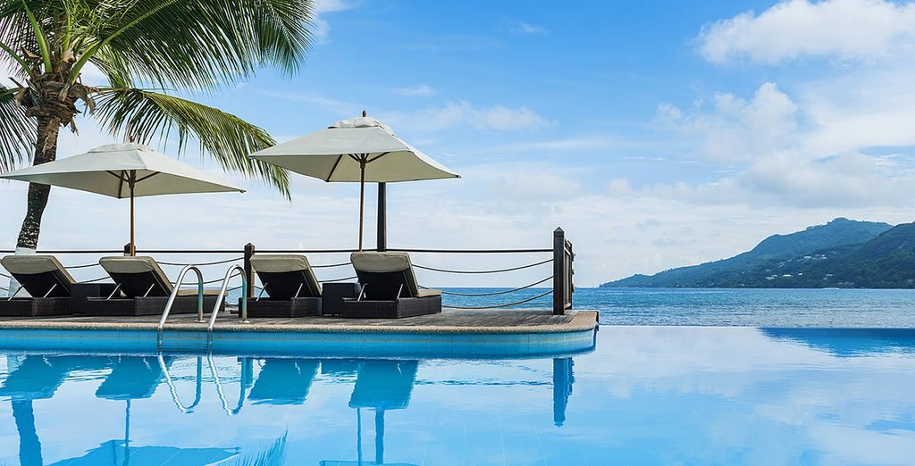Or by the glistening pool lined with perfectly placed sunloungers