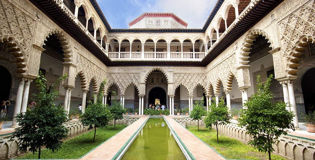 The majestic Alcázar de Sevilla