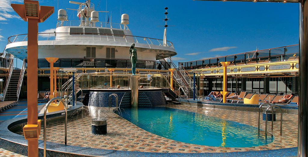 For a 7 night cruise around the sunny Mediterranean