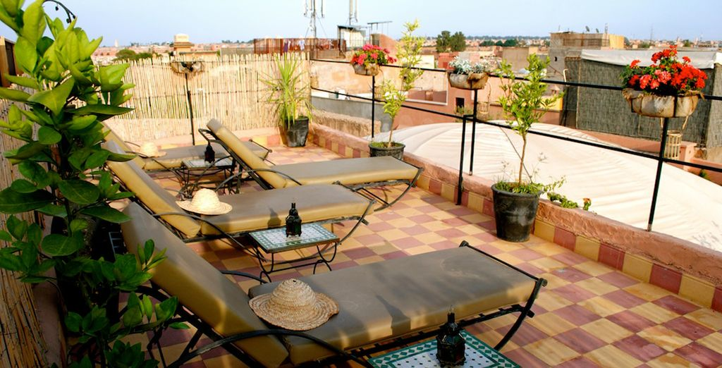 Head up to the rooftop terrace and bathe under the Moroccan sun