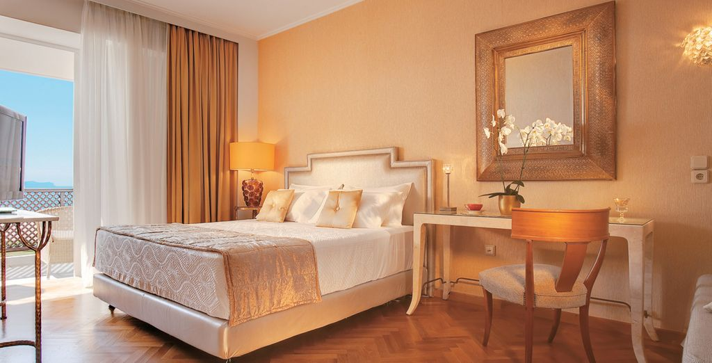 Lavish style awaits in your Sea View Room