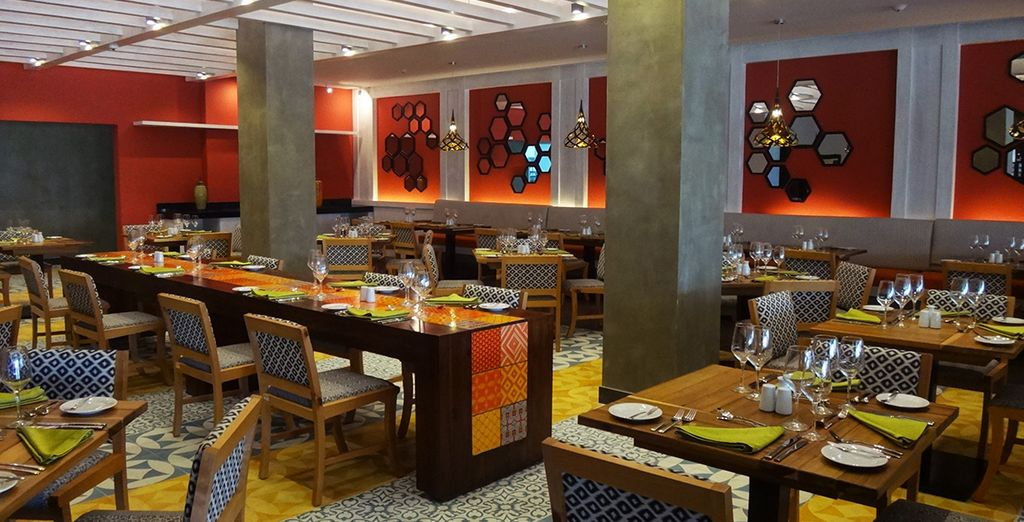 Dine well during your all inclusive stay