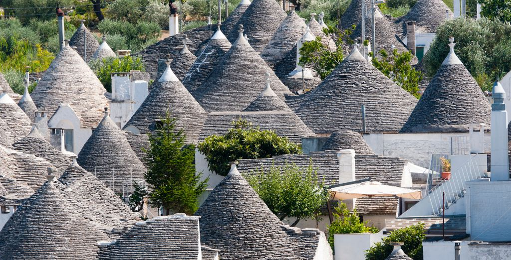 With its quaint trulli rooftops