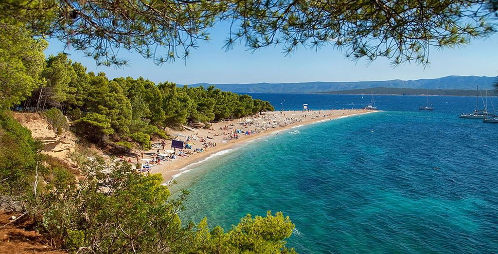...And the sandy beaches and clear, turquoise sea of Brac...